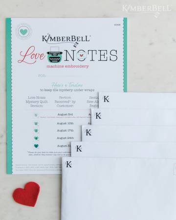 PRE ORDER Kimberbell Love Notes - COMPLETE Kit (Embroidery)
