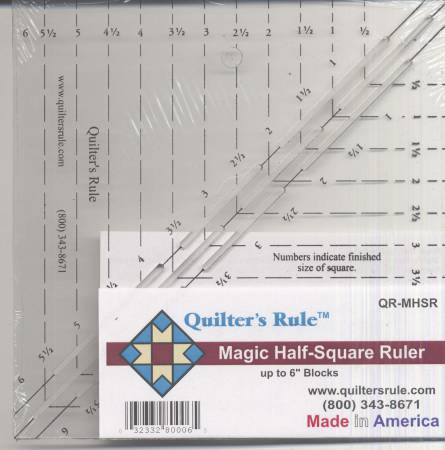 Quilter's Rule Magic Half Square Triangle Ruler